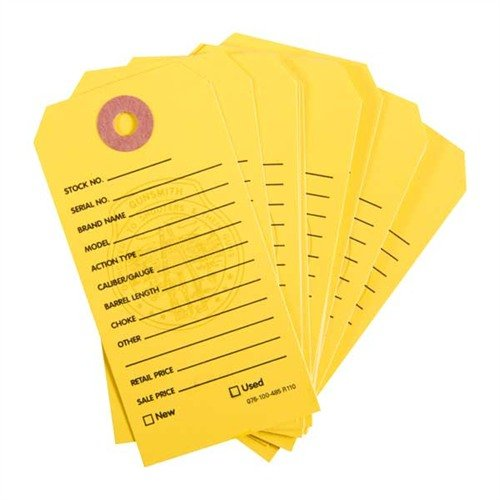 500 Brownells Gun Price Tags, Yellow