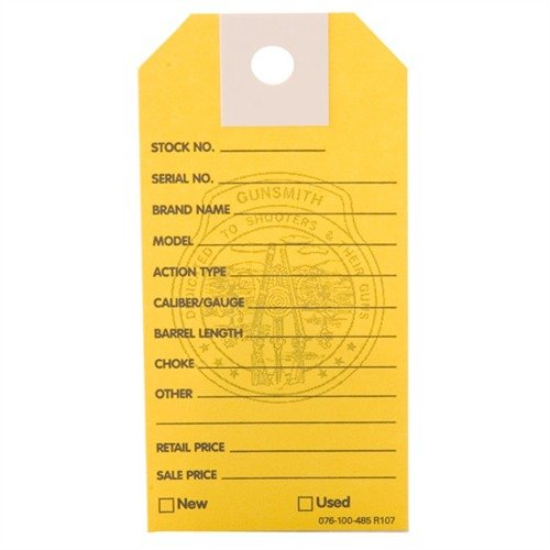 1000 Brownells Gun Price Tags, Yellow