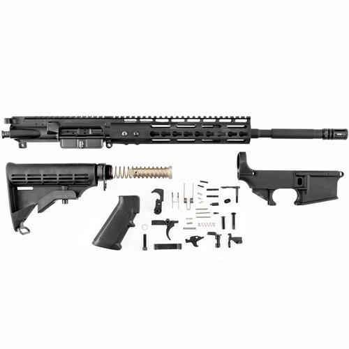AR-15 Receiver Set w/ Lower Parts Kit & Stock