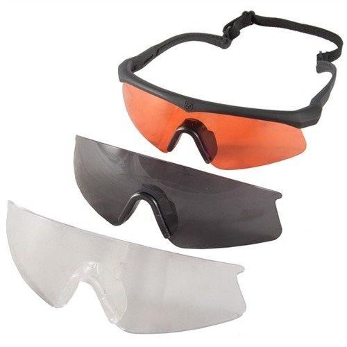 Amber Clear Smoke Sawfly Deluxe Shooting Glasses Black