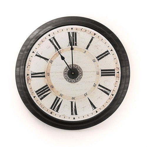 Concealment Wall Clock-Wood/Roman
